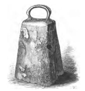 Drawing of St. Ninian's Bell. from Prehistoric Annals of Scotland. v.iip. 468