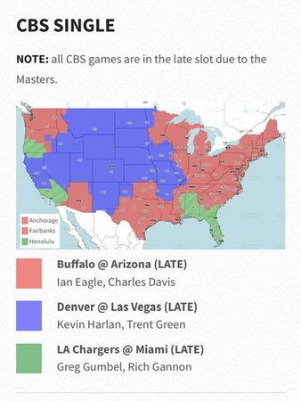 Nfl Televised Games Map : televised, games, Coverage, Orleans, Saints, SaintsReport.com