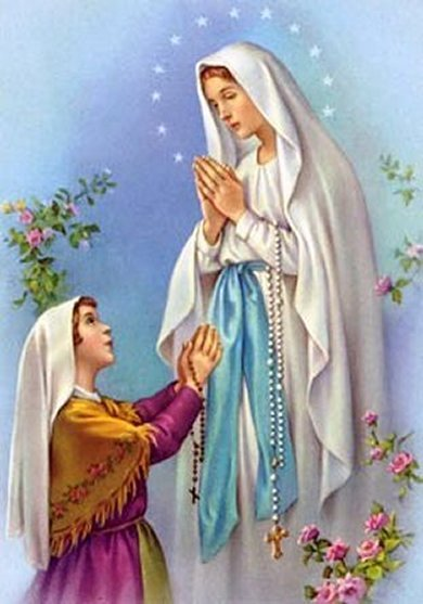 Image result for image of our lady of lourdes