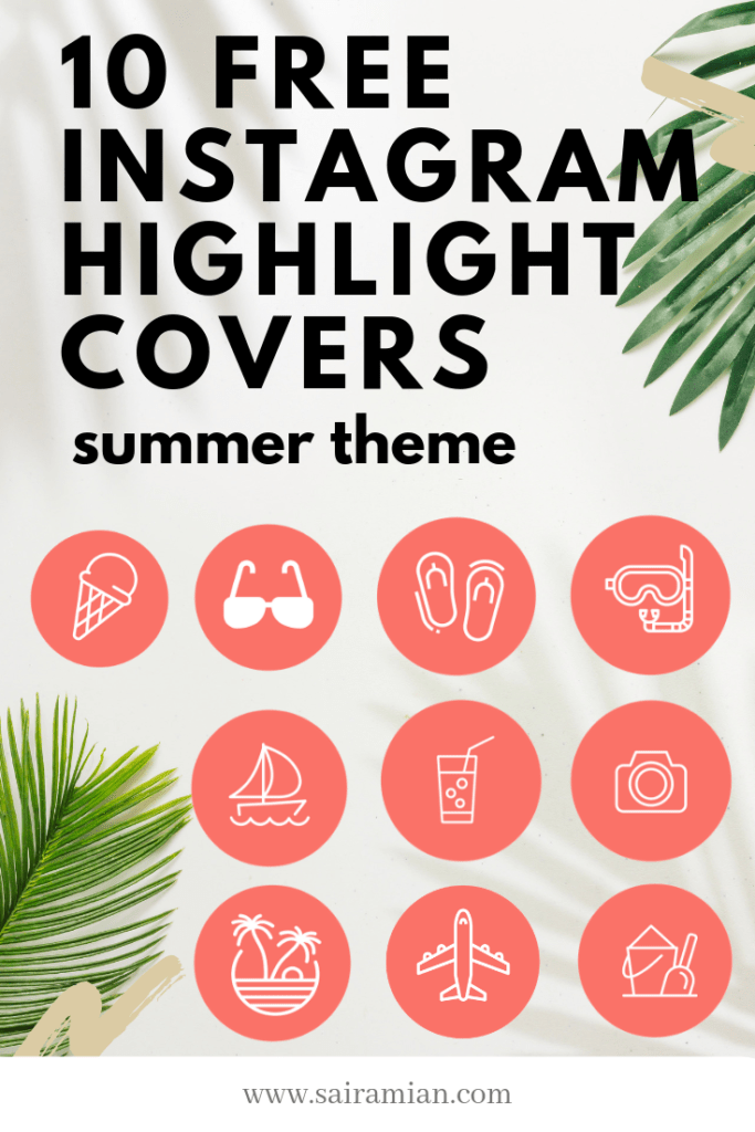 Instagram Highlight Covers - Free Summer Themed Coral Covers