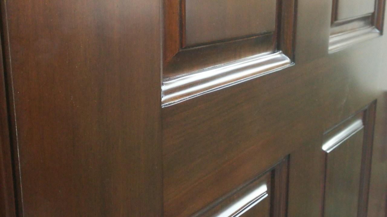 木製玄関ドア塗り替え 塗り替え