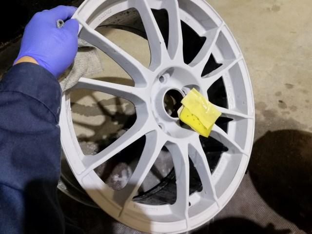 OZ 18インチホイール 艶有ブラック カラーチェンジ プライマー塗装