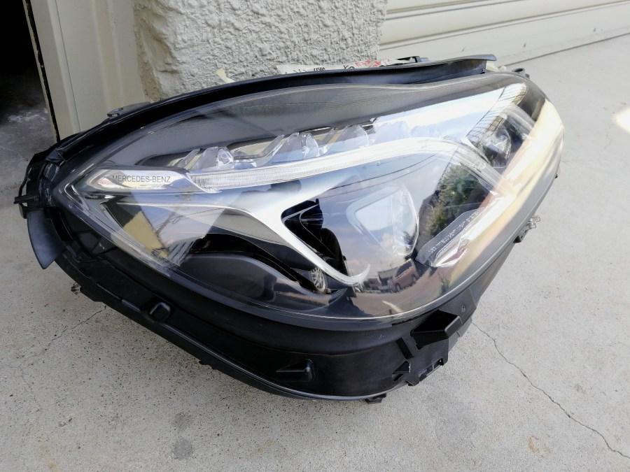 メルセデスベンツ W212 ヘッドライト磨き&コーティング 施工後