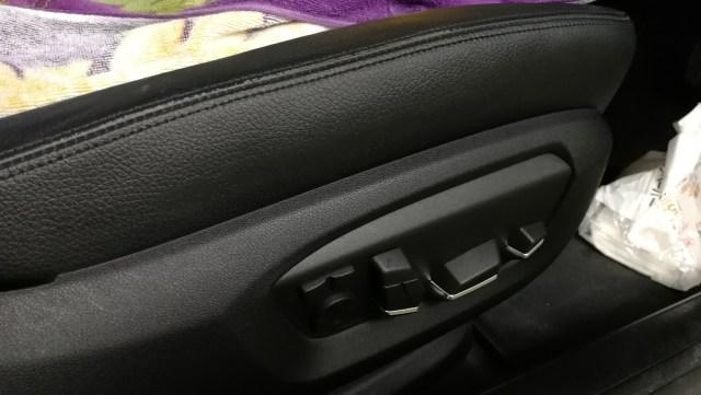 BMW 黒革シート 切れ補修後