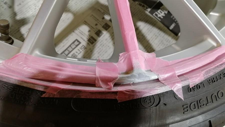 OZ SPORT ウルトラレッジェーラ マットグラファイトシルバー ホイールガリ傷修理 パテ成形