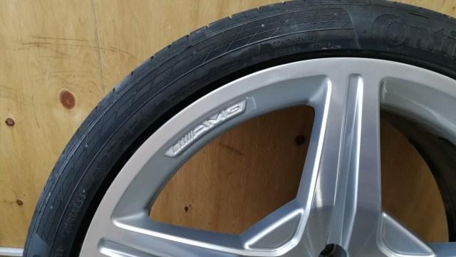 AMG ダイヤモンドカット 19インチホイール ガリ傷修理後