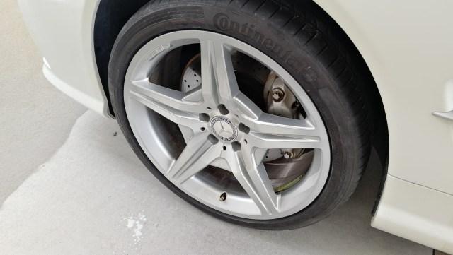 AMG ダイヤモンドカット 19インチホイール ガリ傷修理後 車両取り付け