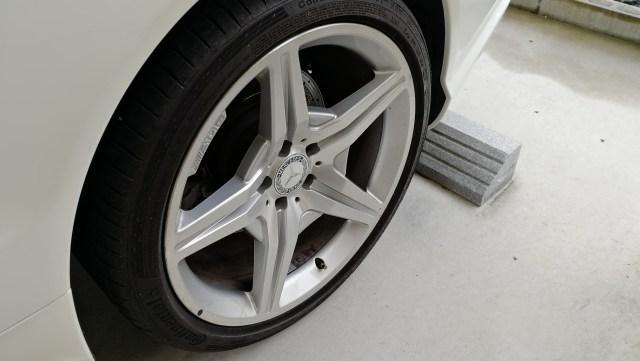 AMG ダイヤモンドカット 19インチホイール ガリ傷修理後 車両取り付けノーマル
