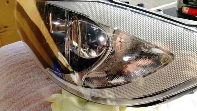 BMW 320i E90 スパシャン ヘッドライトスチーマー2 SPEED その2 施工後