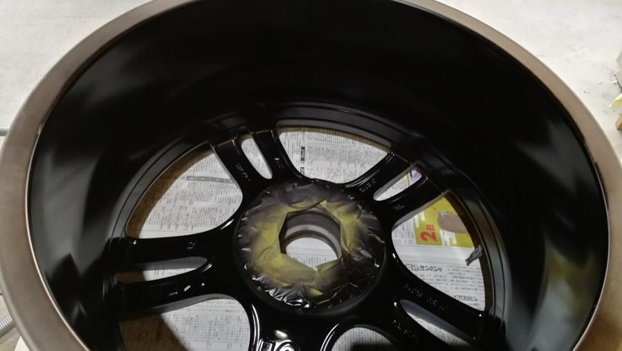BMW 純正18インチホイール 艶消しブラックカラーチェンジ 刈谷市 裏面塗装