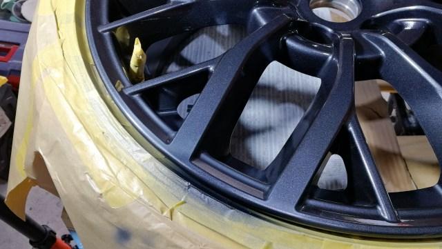 スバル WRX Sti Type S 純正ホイール傷修理 塗装