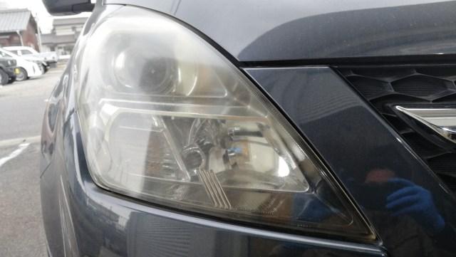 マツダ MPV ヘッドライトコーティング スパシャン ヘッドライトスチーマー 施工前