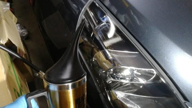マツダ MPV ヘッドライトコーティング スパシャン ヘッドライトスチーマー スパシャン