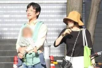 菅野美穂と堺雅人と子供の画像