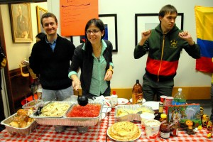 The Euraisa Club served traditional borscht, pirozhri, and blini. (SARAH RASHID)