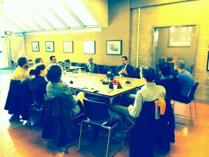 Students interact with Dean Nasr.(COURTESY OF ALLY CARRAGHER)
