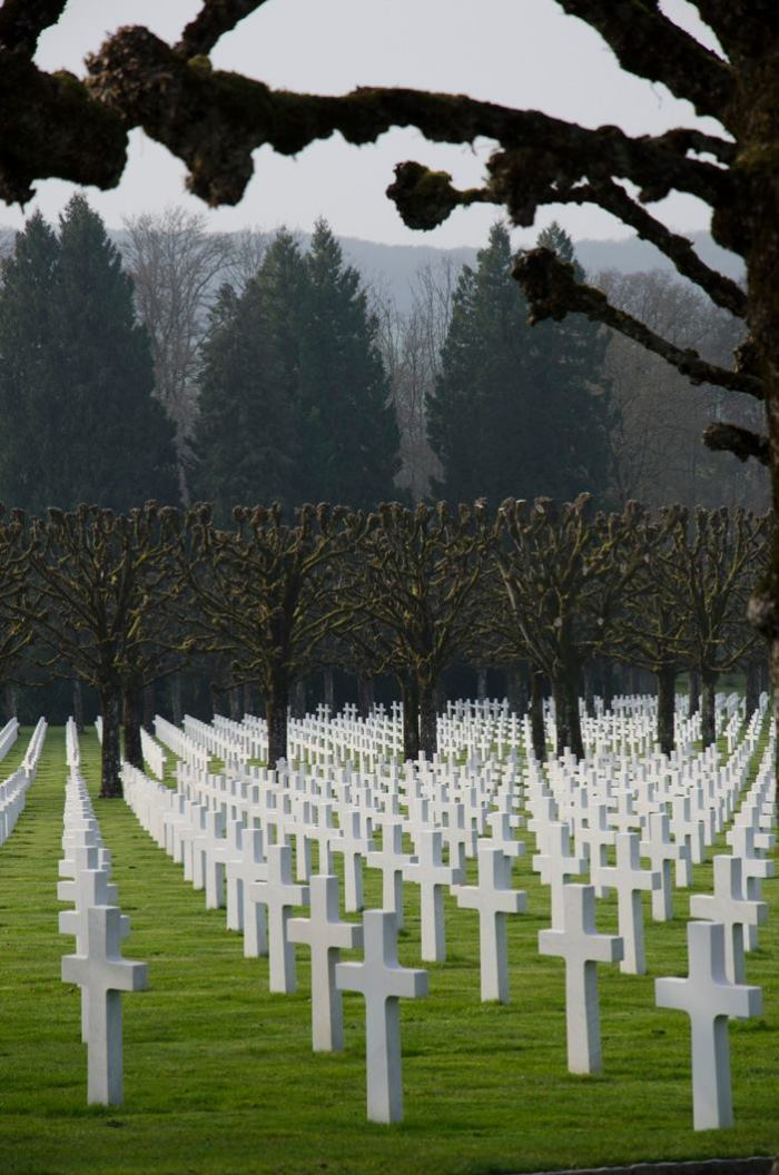 The battlefield portion of the staff ride concluded with the playing of Taps at the Meuse-Argonne American Cemetery, the final resting place of 14,246 troops.  (Photo: Benji Preminger)