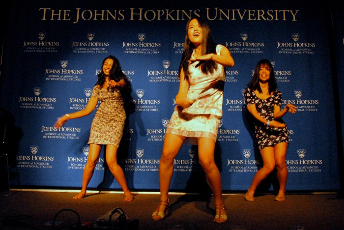 Jing Jing Zhou dances during the talent portion of the pageant. (Sarah Rashid)