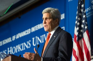 Secretary of State John Kerry speaks at SAIS, November 4th, 2014.