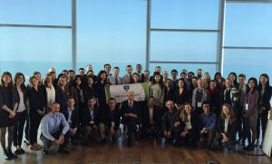 The SAIS delegation with Former President Shimon Peres (Photo: Yonatan Zaid)