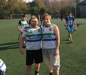 Chase and fellow HNC'er John after finishing their first game with Team Shanghai (Source: Barton Wheeler)