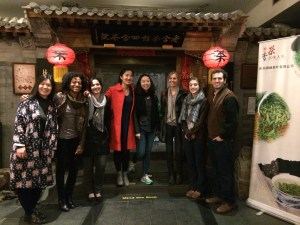 The ERE students took time to visit a tea house in Beijing during their study trip. (Photo courtesy of Morgan Rote)