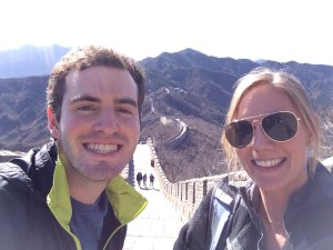 Ryan Bender and Morgan Rote, two ERE students on the China trip, enjoyed an excursion to the Great Wall. (Photo courtesy of Morgan Rote)