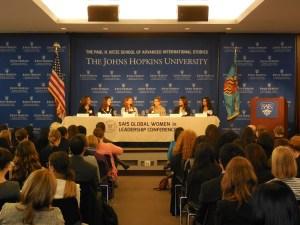 The Mindsets panel answers questions from the audience. From left to right: Lydia La Ferla, Marie Fishpaw, Elizabeth Madigan Jost, Virginia Volpe, Monika Samtani, Meena Krishnan.   (Photo Credit: Zirra Banu)