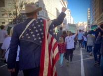 Thousands of protesters continue to march from the White House to Capitol Hill in opposition of Donald Trump's presidency on President's Day. (Photo Courtesy: Fatima Nanavati)