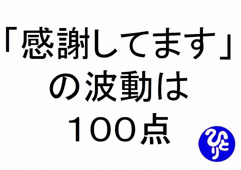 感謝してますの波動は一〇〇点斎藤一人|仕事がうまくいく315のチカラ213