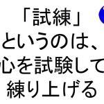 試練というのは心を試験して練り上げる斎藤一人|仕事がうまくいく315のチカラ346