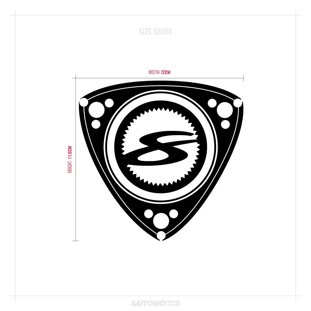 Mazda RX8 Sticker 'DORITO 8' Rotary 13B Decal Crest JDM