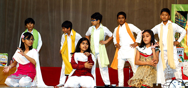 Children dancing at Birthday celebration