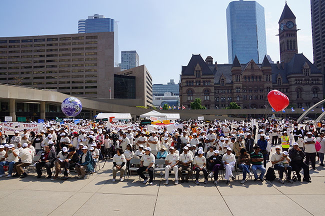 Walk for Values assembly in Toronto