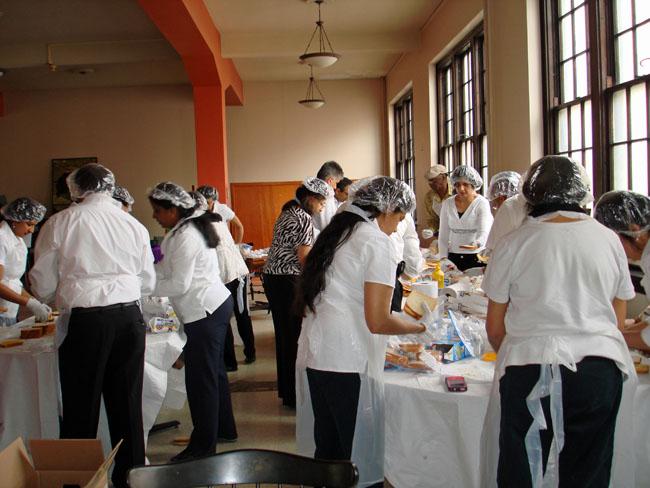 Preparing food in St. Louis, Missouri