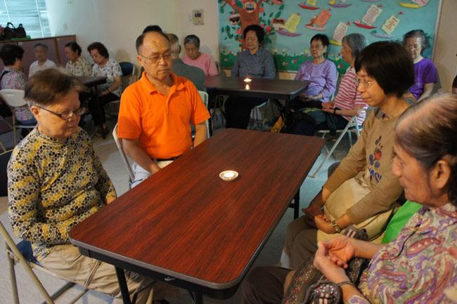 Jyothi meditation with seniors