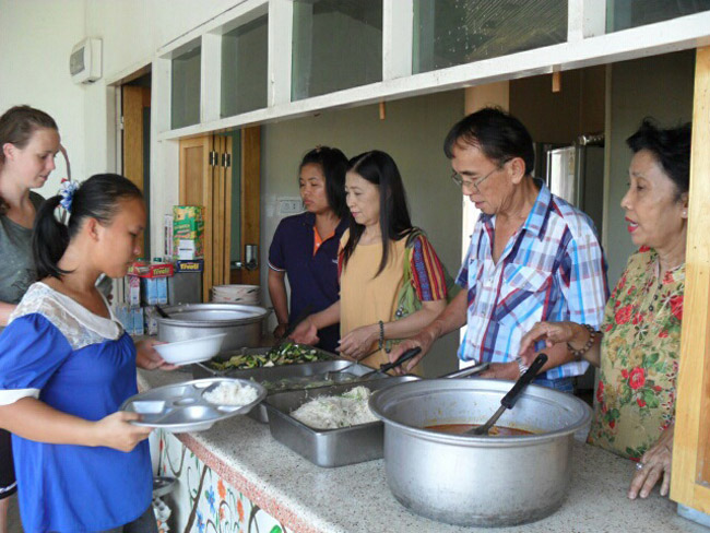 Serving the needy at Chiangmai Centre