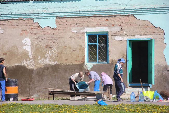 Russia - Siberia - Zarubino - Repairing the gymnasium
