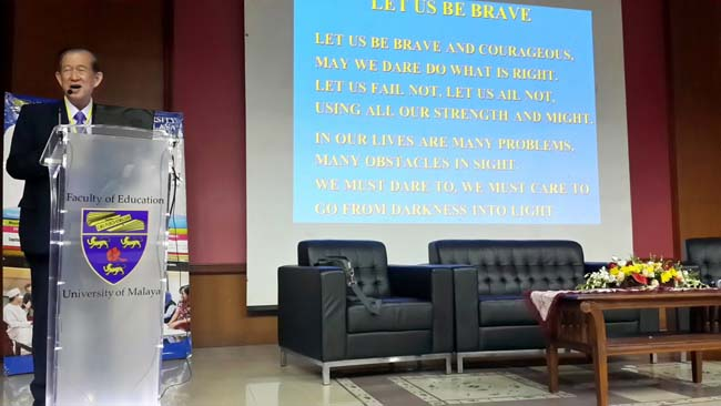 Speaker at conference, Malaysia