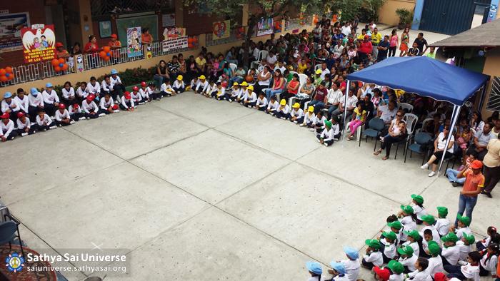 Birthday programme at Sathya Sai School, Guayaquil, Ecuador