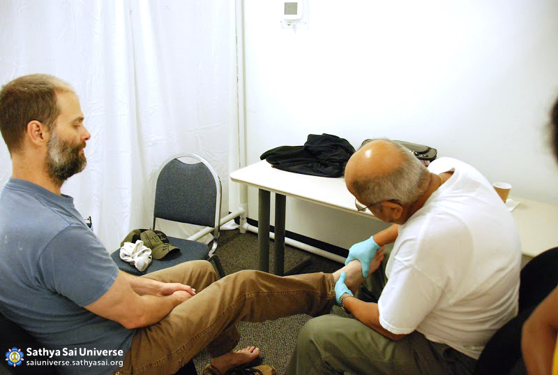 Foot Care at Camp in Houston
