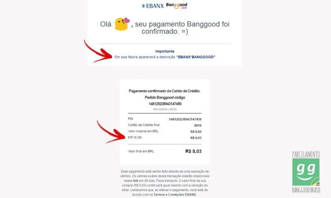 email de confirmação da ebanx