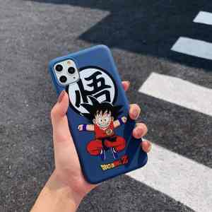DBZ Kid Goku Kanji Symbol Blue iPhone 11 (Pro & Pro Max) Case