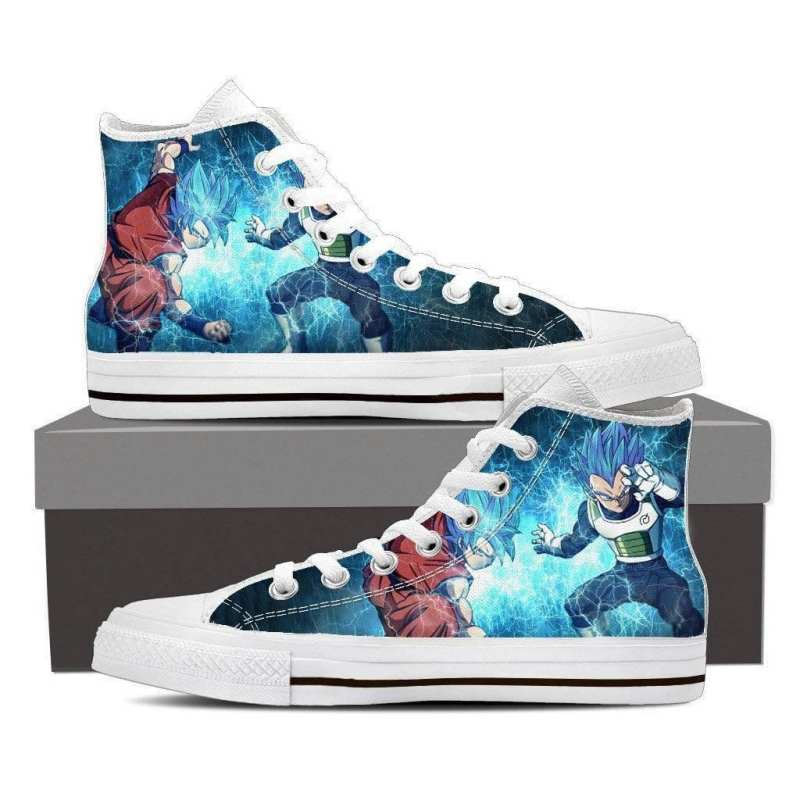 DBZ Goku Vegeta SSGSS Super Saiyan God Blue Sneaker Converse Shoes