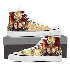 DBZ Son Goku Super Saiyan Strong Serious Epic Sneakers Shoes