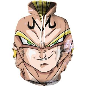 DBZ Super Saiyan Prince Vegeta Smirking Hip Hop 3D Pocket Hoodie - Saiyan Stuff