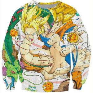 Goku and Shenron Dragon Ball Dope Sweatshirt - Saiyan Stuff
