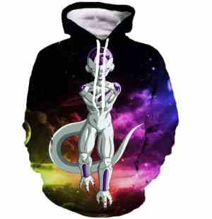 Mighty Frieza Flying Space Galaxy Swag Final Form 3D Hooded Sweatshirt - Saiyan Stuff