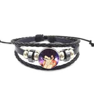 Dragon Ball Z Gogeta Fierce Look Leather Braided Bracelet