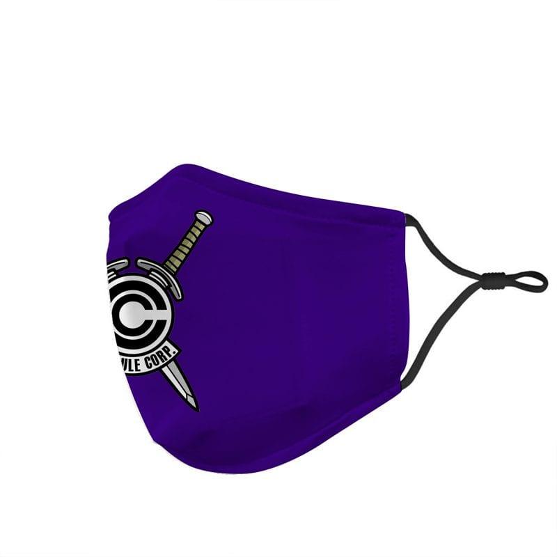 Dragon Ball Z Future Trunks Sword Capsule Corp Blue Face Mask